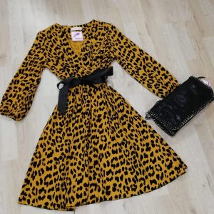 Vestido mostaza print