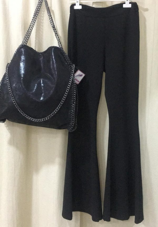Pantalón campana negro