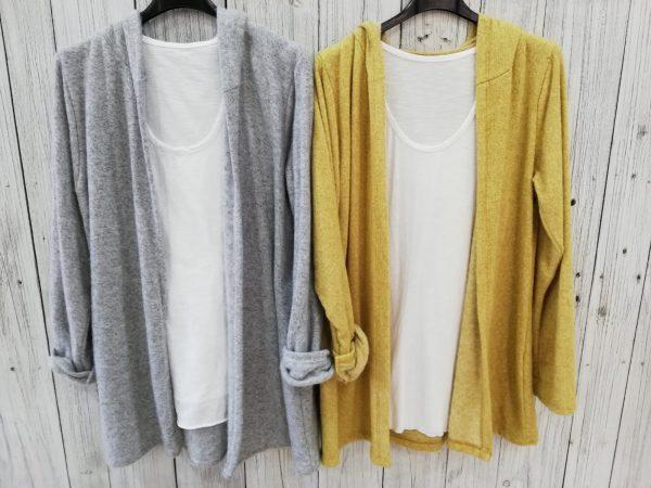 Chaqueta lana capucha