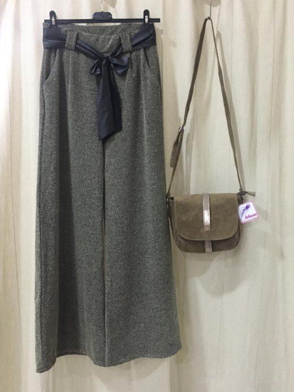 Pantalón pallazzo marrón