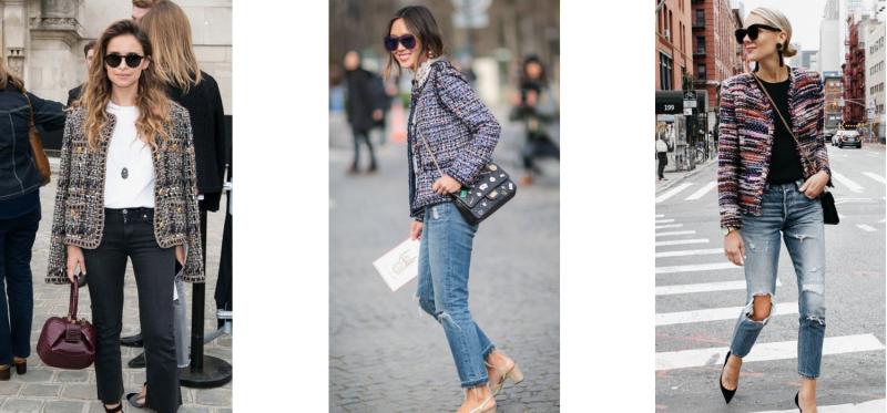 chaqueta tweed