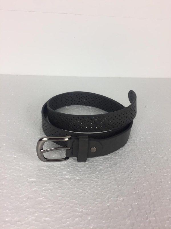cinturon troquelado negro