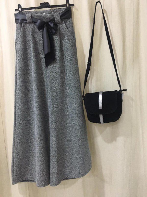 Pantalón pallazzo gris
