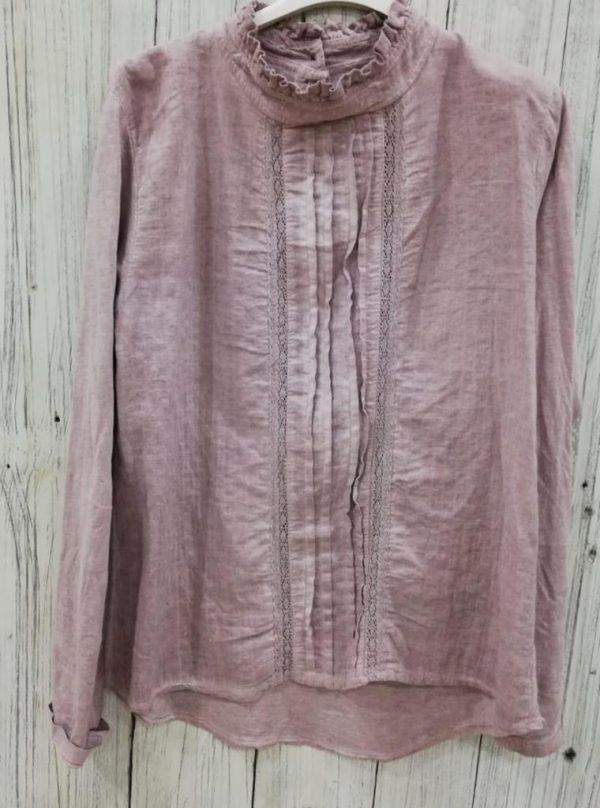 Camisa jaretas rosa