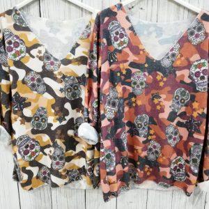 Jersey calaveras lana