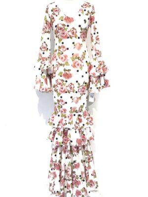 vestido flamenca flores