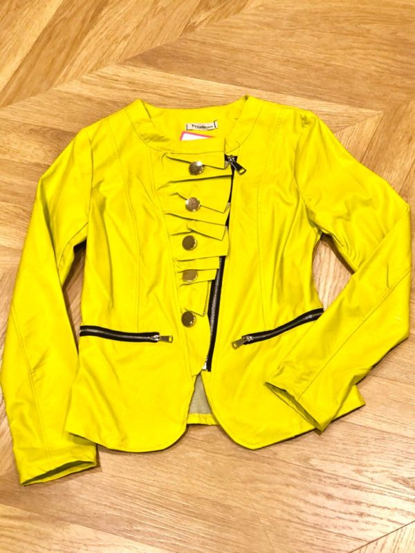 chaqueta antelina pistacho